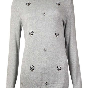 Tommy Hilfiger Women's Embellished Rhinestone Sweater