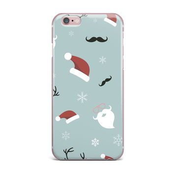 "Louise ""Happy New Year!"" Christmas Teal Santa iPhone Case"