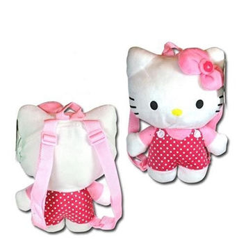 NWT Sanrio Hello Kitty Plush Backpack Pink with Dot (JoyAve)