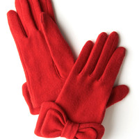 Not to Worry Gloves in Red | Mod Retro Vintage Gloves | ModCloth.com