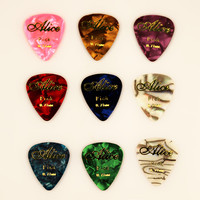 10pcs 0.71mm alice high hot stamping quality guitar picks two sides pick Grain picks earrings DIY picks guitar necklace bracelet
