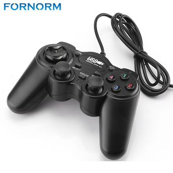 FORNORM  2.0 USB Wired Gamepad Joystick Joypad Gamepad Game Controller For PC Laptop Computer For Win7/8/10 XP/ For Vista