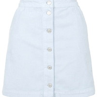 MOTO Cord Button Front A-Line Skirt - Topshop
