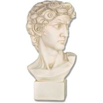 David Contemplating Bust by Michelangelo 17H