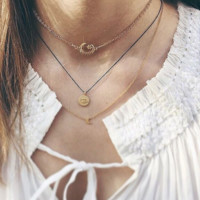 MOON STAR CHOKER - gold