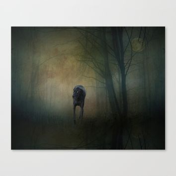 The Hound In The Woods Canvas Print by Theresa Campbell D'August Art