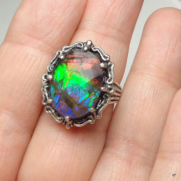 Sz 6 1/2, Rare Gemstone,Faceted from JanesGemCreations on Etsy