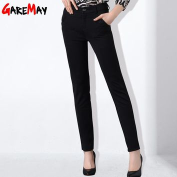 Women Pants High Waist Pantaloon Work Wear Pants With Elastic Office Long Pants For Women Clothing
