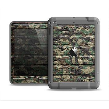 The Vibrant Brick Camouflage Wall Apple iPad Air LifeProof Nuud Case Skin Set
