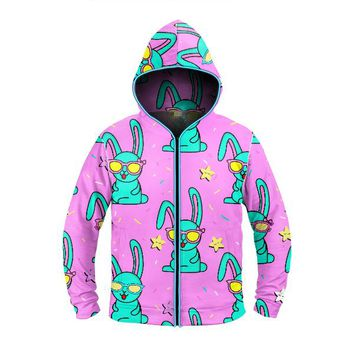 Trippy Bunny Light Up Hoodie