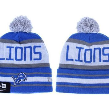 ESBON Detroit Lions Beanies New Era NFL Football Hat