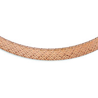 Leslie's 14k Rose Gold Mesh Necklace LF379