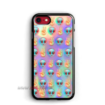 Psychedelic iphone X Cases Alien Emoji Samsung Cases Pattern iphone 8 plus Cases