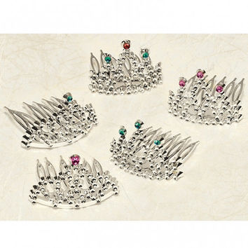 Mini Tiara Princess Crown Cupcake Topper Decoration/Party Favors - Set of 12
