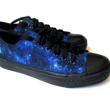 custom handpainted galaxy sneakers personalized shoes galaxy converse galaxy vans l