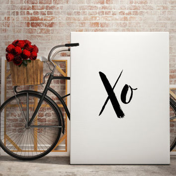 Inspiring art Xo Xo Prints Xo Xo Printable Hugs and Kisses Print Xo Poster Motivational quote Love art Home decor For her For couples