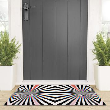 Hypno Welcome Mat by duckyb