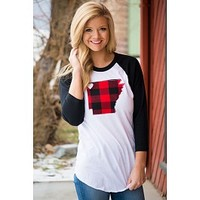Arkansas Baseball Tee