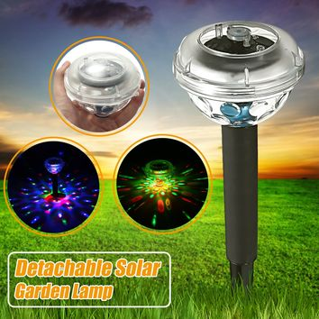 Floating Underwater LED Disco Light Solar Garden Path Yard Fence Swim Pool Lamp