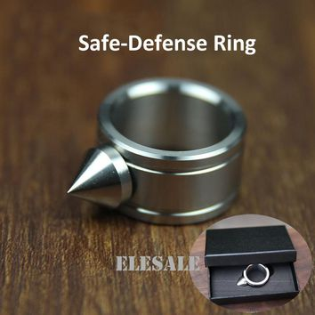 High Quality Stainless Steel Self Defense Ring For Women Men Safety Outdoor Survial Kit Self-defense Weapon Glass Breaker Gift
