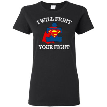 Autism Superhero Ladies T-Shirt