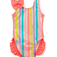 Goldie Ruffle & Bow One-Piece Swimsuit