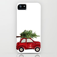 Red Christmas Beetle iPhone & iPod Case by Craftberrybush