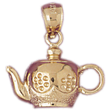 14K GOLD COOKING CHARM - TEAPOT #6951