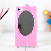 Fashion Lady Mirror Cover Case for Iphone 4/4s/5 by onfancy
