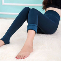 Autumn-Winter Fashion Velvet Warm Leggings Cotton Elastic High