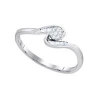 Diamond Fashion Ring in White Gold-plated silver 0.17 ctw