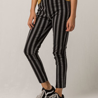 IVY & MAIN Stripe Black & White Womens Crop Pants