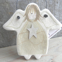 White Angel Salt Dough Kitchen Gift or Kitchen Ornament