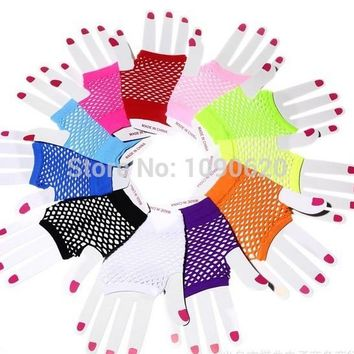 2017 hot selling  Mesh glove Performance rock street dance glove sexy glove Women Fingerless Gloves Sexy Party Lace Mittens