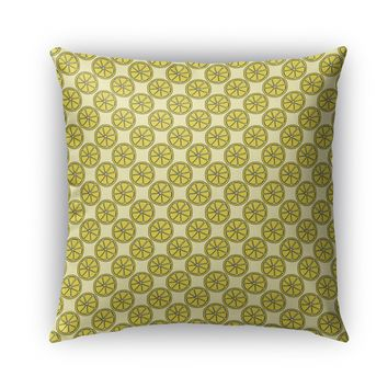 LEMON SLICES PATTERN Indoor|Outdoor Pillow By Northern Whimsy