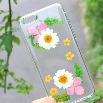 nice petals case 100 handmade dried flowers cover for iphone 7 7plus iphone 6 6s plus gift box b61  number 1