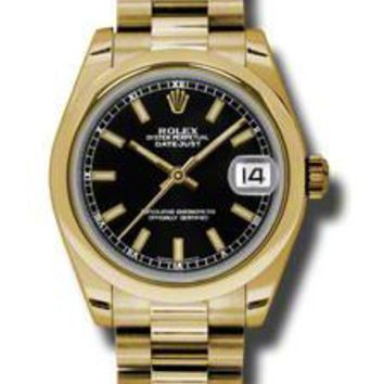 Rolex - Datejust 31mm - Gold President Yellow Gold - Domed Bezel
