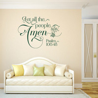 Christian Wall Decal. Let All The People Say Amen - CODE 153