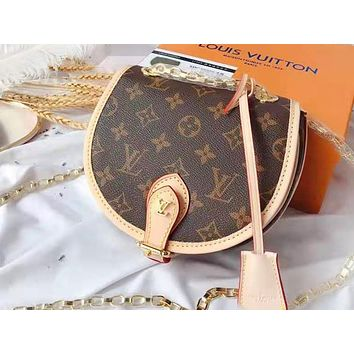 LV hot seller of lady's printed patchwork color shoulder bag, fashionable and casual whip bag