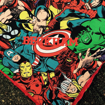 Marvel Comic Baby Blanket, Baby, MInky Dot, Superhero, Accessory, Geekery