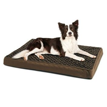 "Pet Star YF87109S-M Orthopedic Dog Bed w/ Egg Crate Pad, Brown, 27"" x 36"""