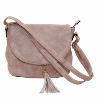 Anzel Women's Crossbody Blush Faux Suede Bag