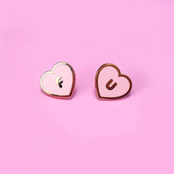 FU Hearts Lapel Pin Set - Blush