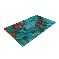 "Iris Lehnhardt ""Rusty Teal"" Woven Area Rug, 4' x 6'  - Outlet Item"