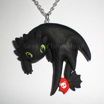 Toothless How To Train Your Dragon Handmade Necklace