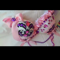 Custom rave bra, one of a kind , absolutely gorgeous, hand made.