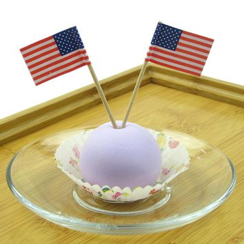 50Pcs Mini Flag Fruit Toothpick Paper Flag Food Picks Cake Toothpicks Cupcake Fruit Sticks Party Christmas Decoration GF038