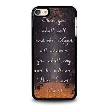 VERSES BIBLE SCRIPTURES iPod 4 5 6 Case