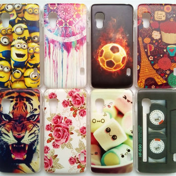 Only For E455 New Arrival Back Covers For LG Optimus L5 II E455 Case Hard Plastic Back Cover Many Patterns Free Phone Cases