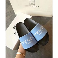 Light Blue GIVENCHY SLIPPERS